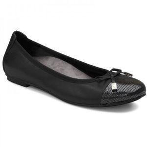 Vionic Black Minna Ballet Bow Comfort Flats Sz 8